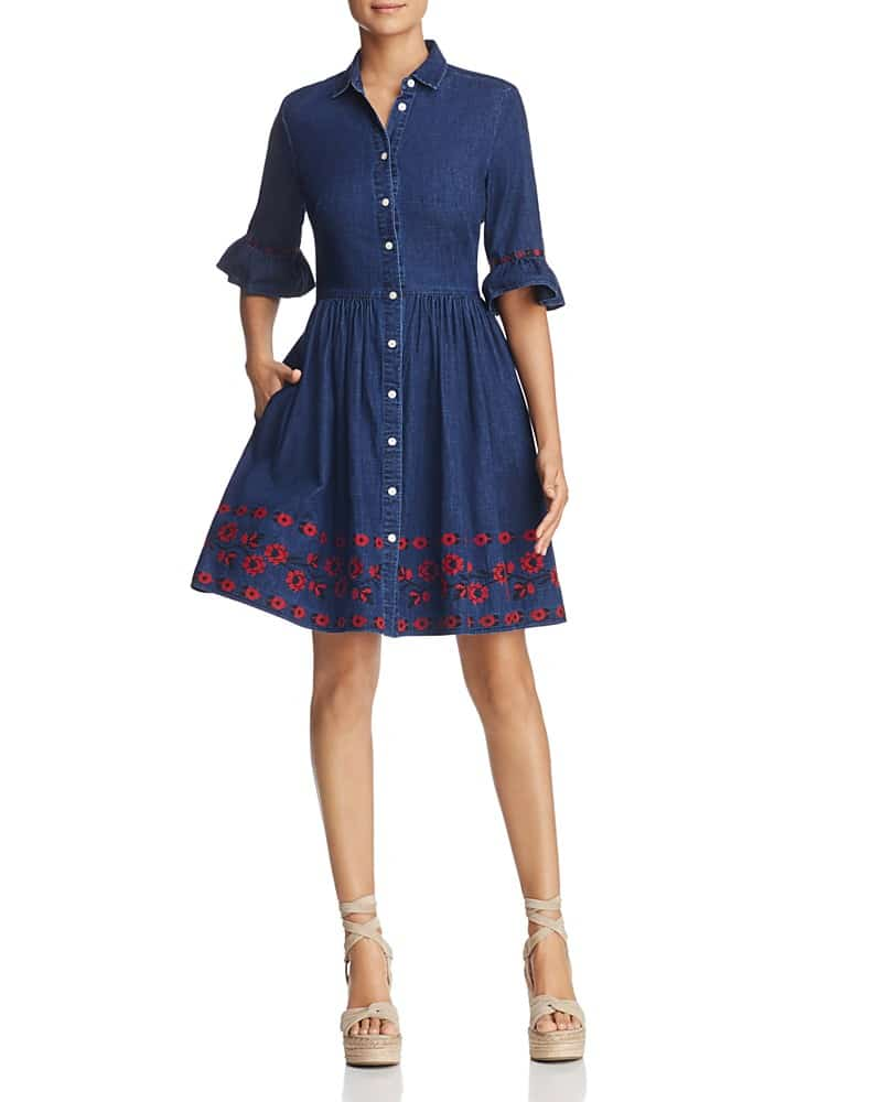 Kate Spade New York Embroidered Chambray Dress We Select