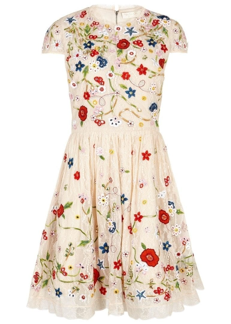 Alice+Olivia Lindsey embroidered structured dress Alice+Olivia Lindsey  embroidered structured dress ...