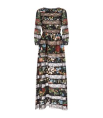 ALICE + OLIVIA Desma Printed Lace Multi Dress
