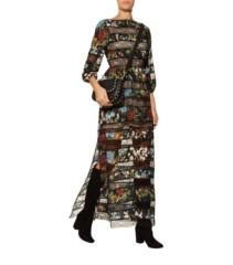 ALICE + OLIVIA Desma Printed Lace Multi Dress