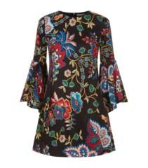 ALICE + OLIVIA Thym Trumpet Sleeve Multi / Floral Dress