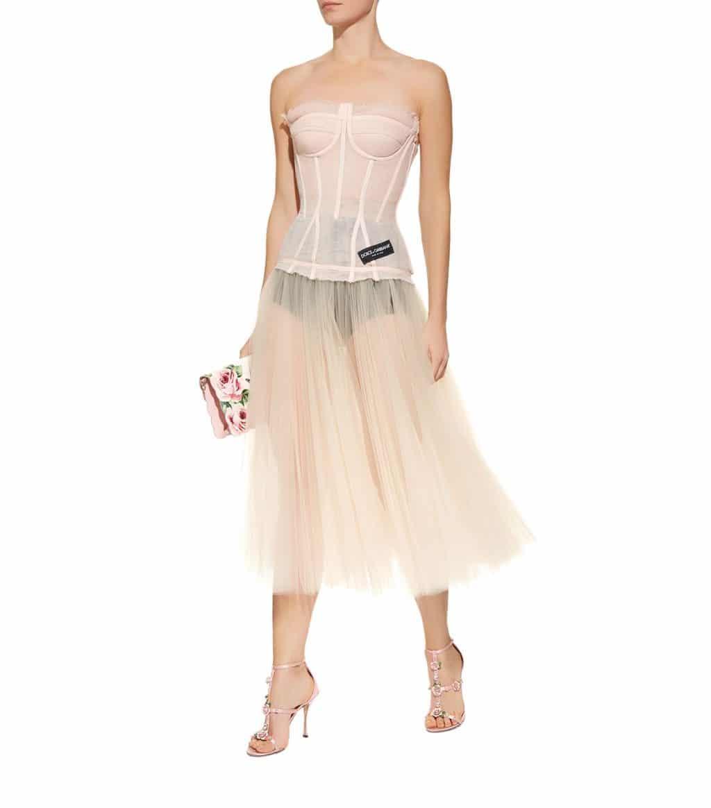DOLCE & GABBANA Corset Midi Multi Dress - We Select Dresses