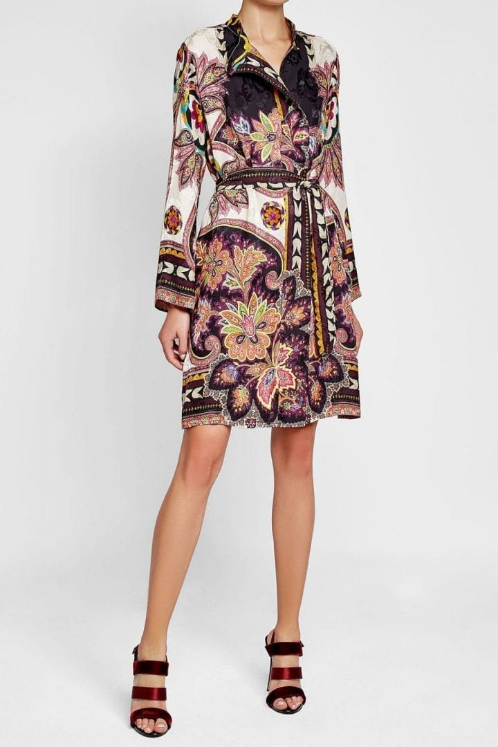 4a0b403da63c4a ETRO Silk with Printed Shirt Multicolored Dress - We Select Dresses