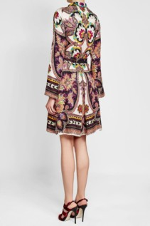 ETRO Silk with Printed Shirt Multicolored Dress