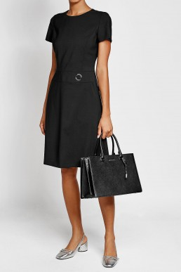 HUGO Virgin Wool Black Dress