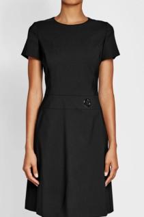 HUGO Virgin Wool Black Dress