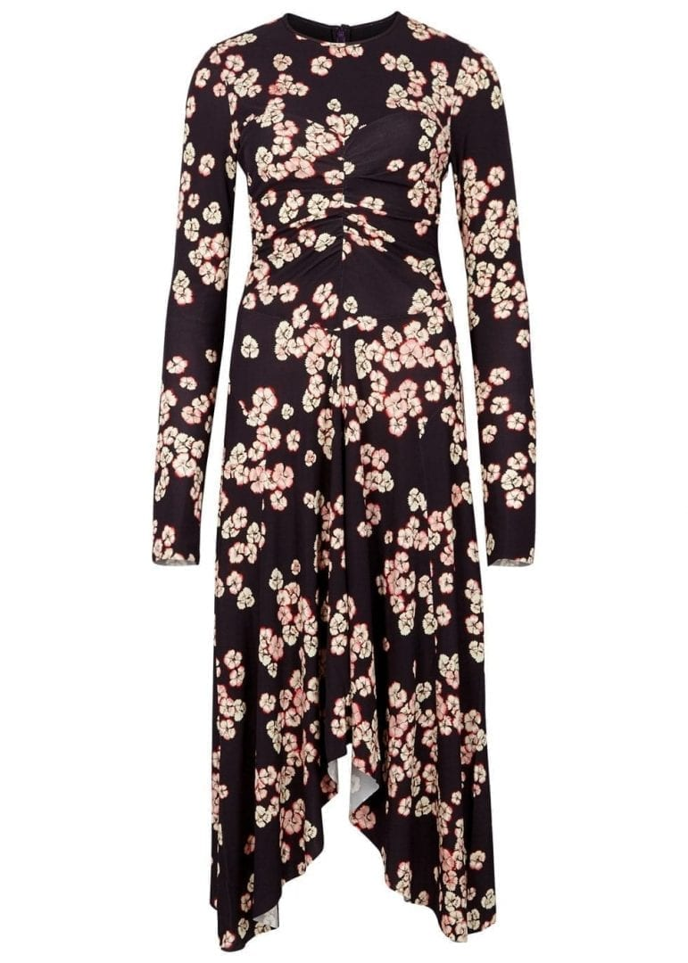 ISABEL MARANT Diana Purple / Floral Printed Dress