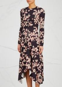 ISABEL MARANT Diana Purple / Floral Printed Dress