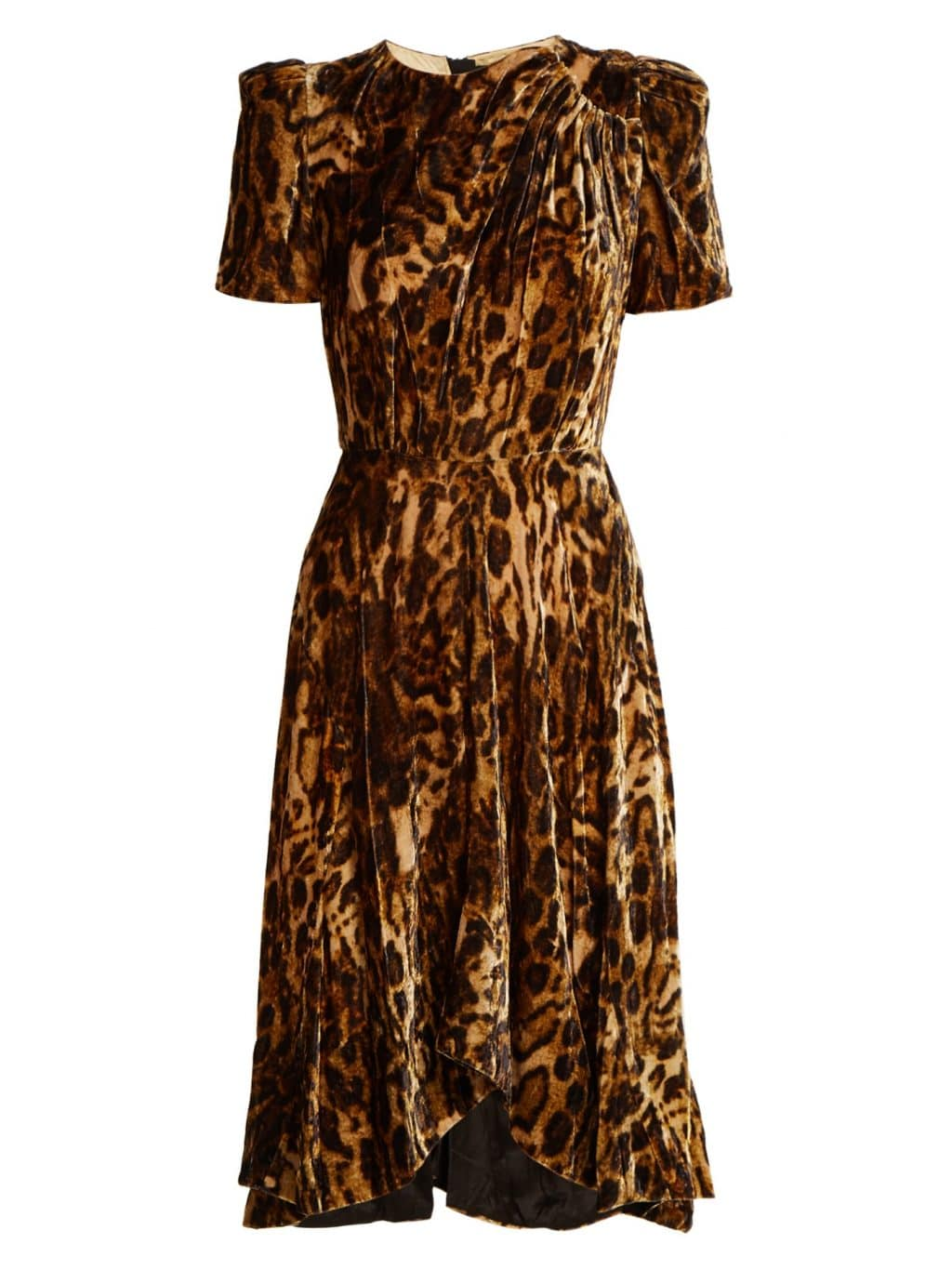ISABEL MARANT Ulia Leopard Print Velvet Brown Dress