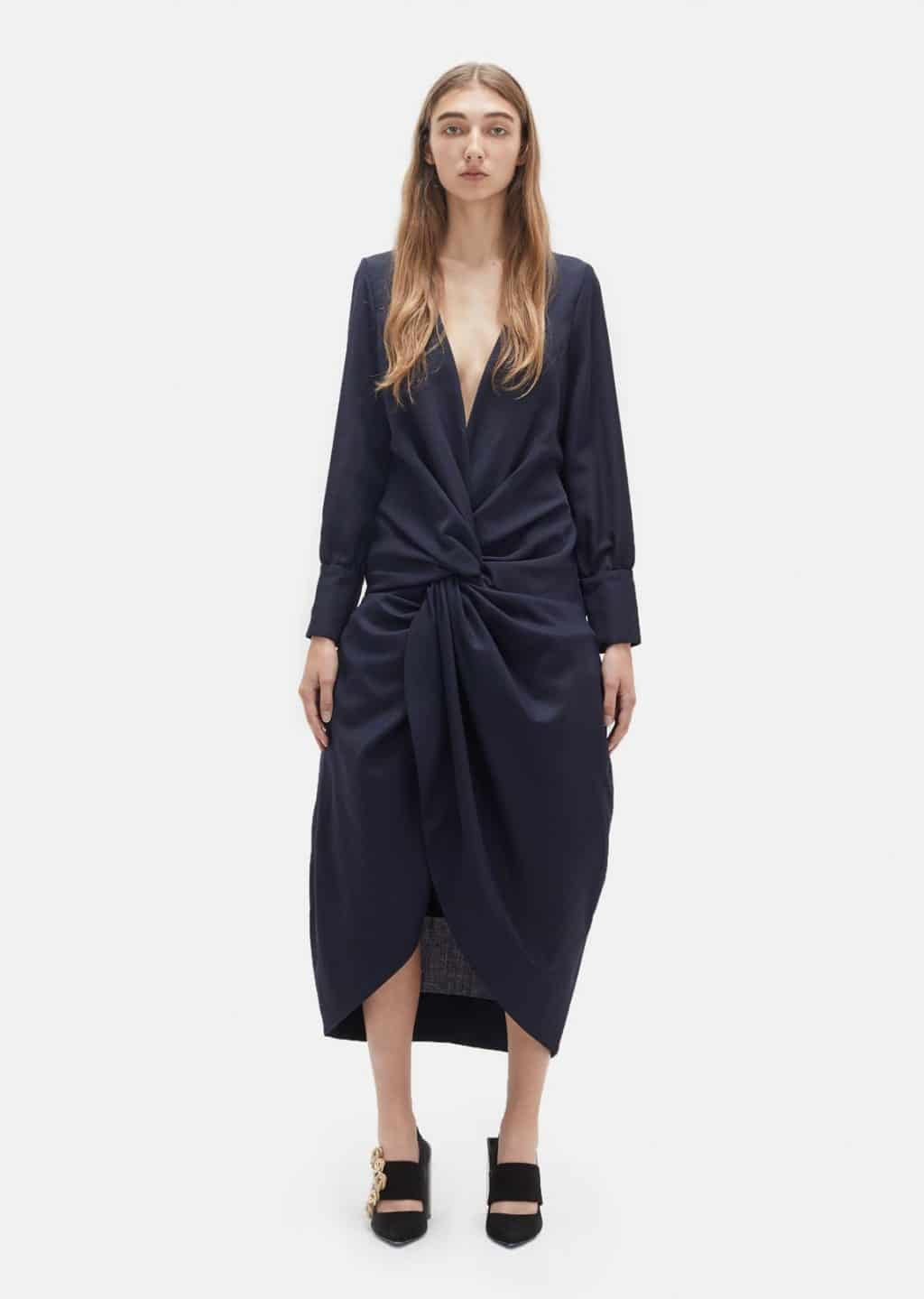 2f416bdc2cc7 JACQUEMUS Flower Wool Navy Dress - We Select Dresses