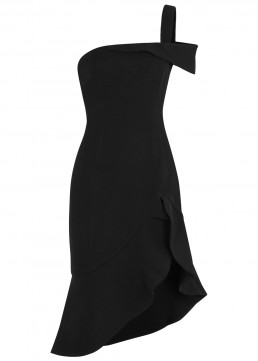 KEEPSAKE Shooting Star One Shoulder Black Dress
