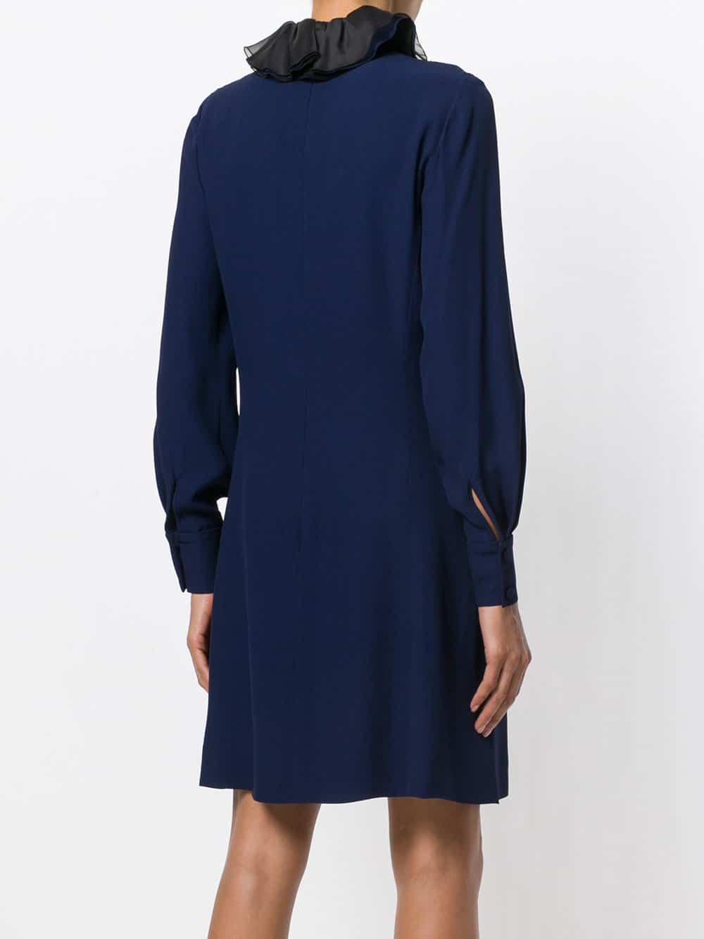 LANVIN Ruffled Blue Dress