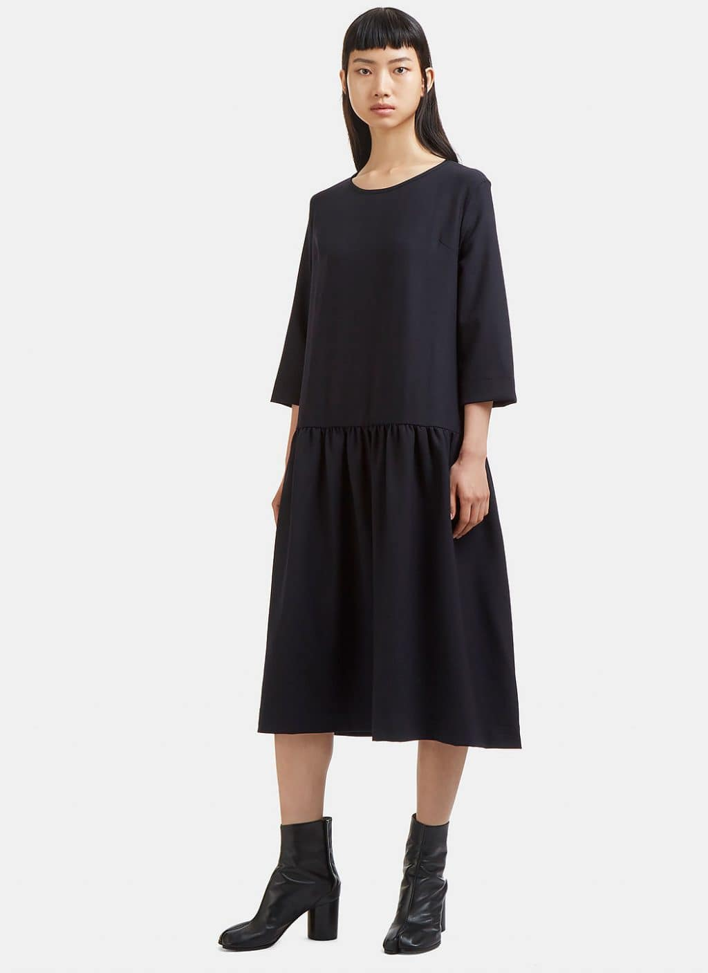 MARVIELAB Oversized Dropped Waist Navy Dress