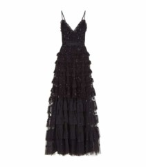 NEEDLE & THREAD Marie Embellished Black Gown