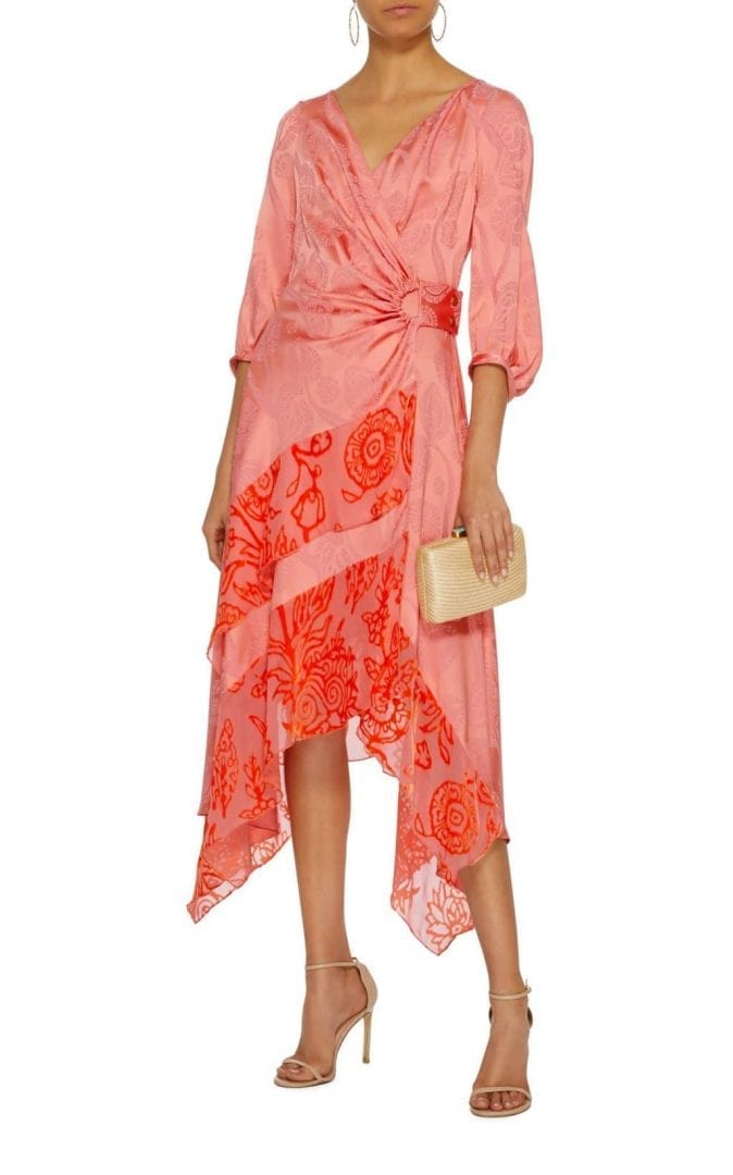 PETER PILOTTO Asymmetric Jacquard Pink Dress