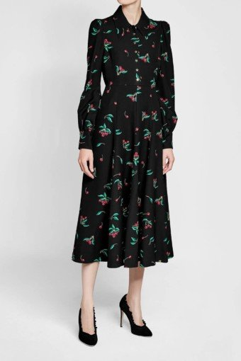 PHILOSOPHY DI LORENZO SERAFINI Printed Black Dress