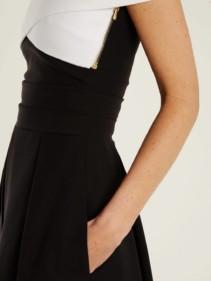 PREEN BY THORNTON BREGAZZI Virginia Off The Shoulder Cady Black Dress