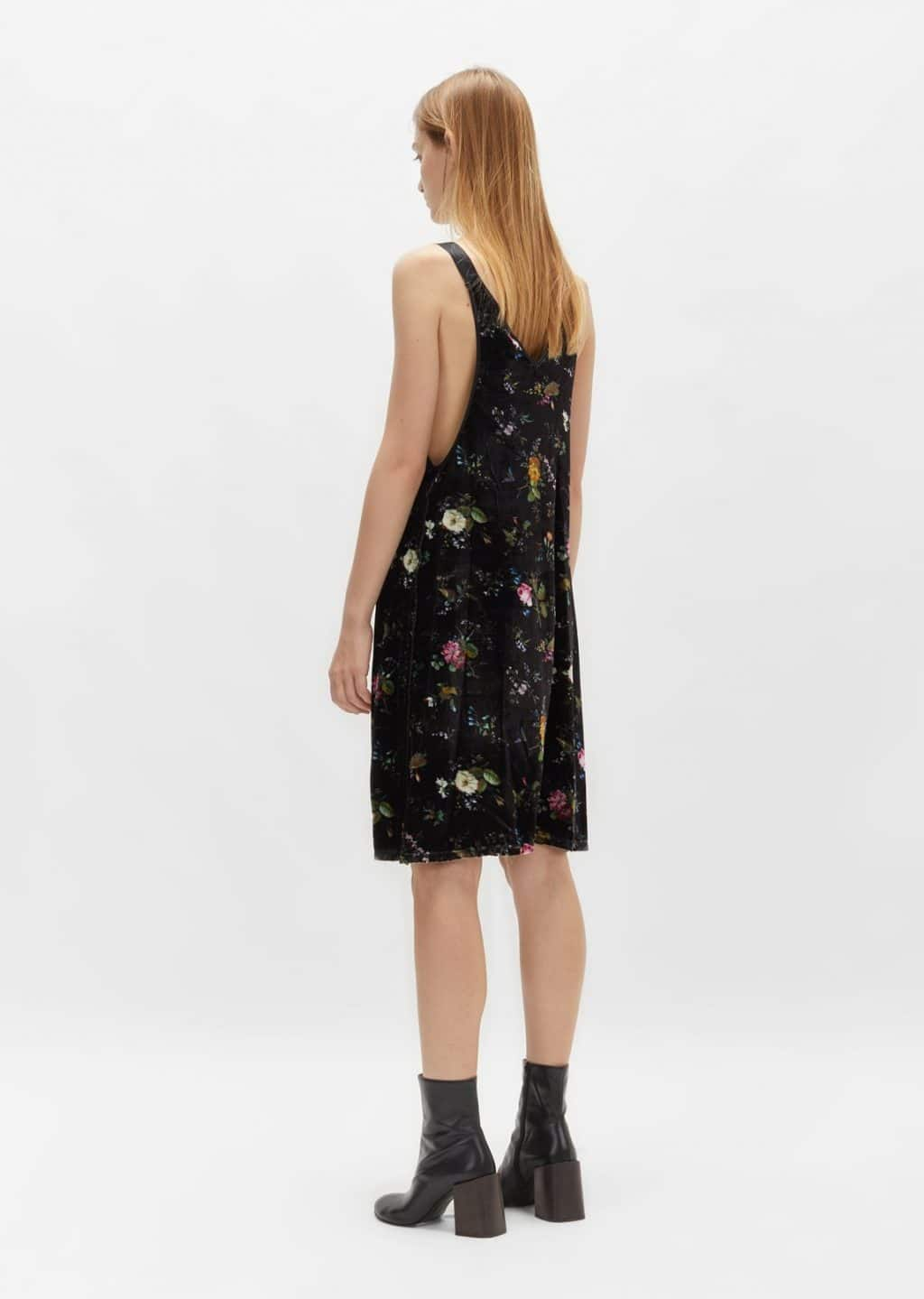 bbf986f94d99 R13 Velvet Floral Slip Black Dress - We Select Dresses