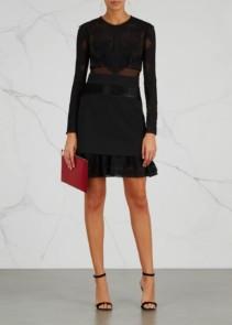 THREE FLOOR Bonjour Panelled Mini Black Dress