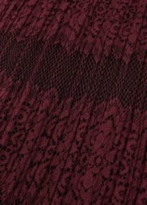 THREE FLOOR Essence Lace Maxi Burgundy Dress