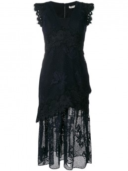 THREE FLOOR State Of Mind Lace Navy Dress