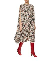 VALENTINO Printed Cape Ivory Dress