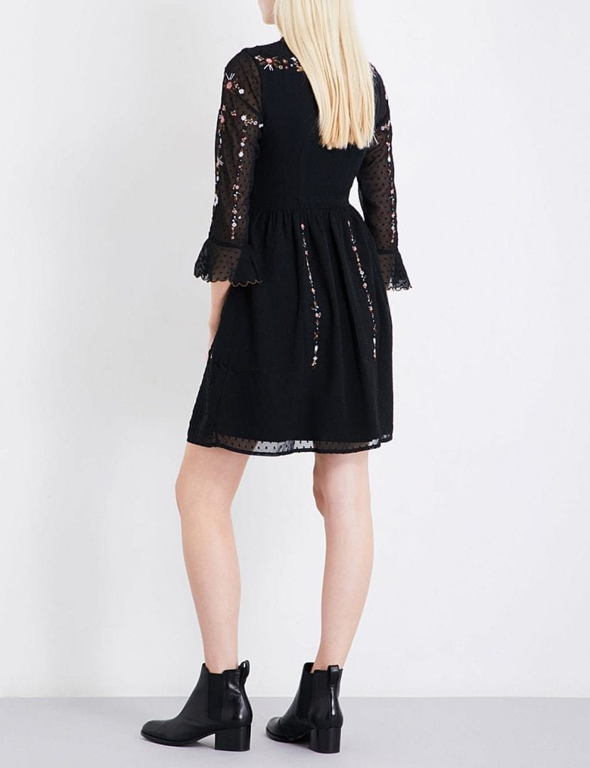 Whistles Amira Embroidered Fil Coup Shirt Black Dress We Select