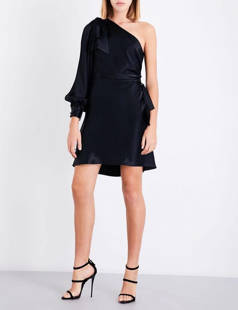 ZIMMERMANN Bow Satin-crepe Mini Black Dress