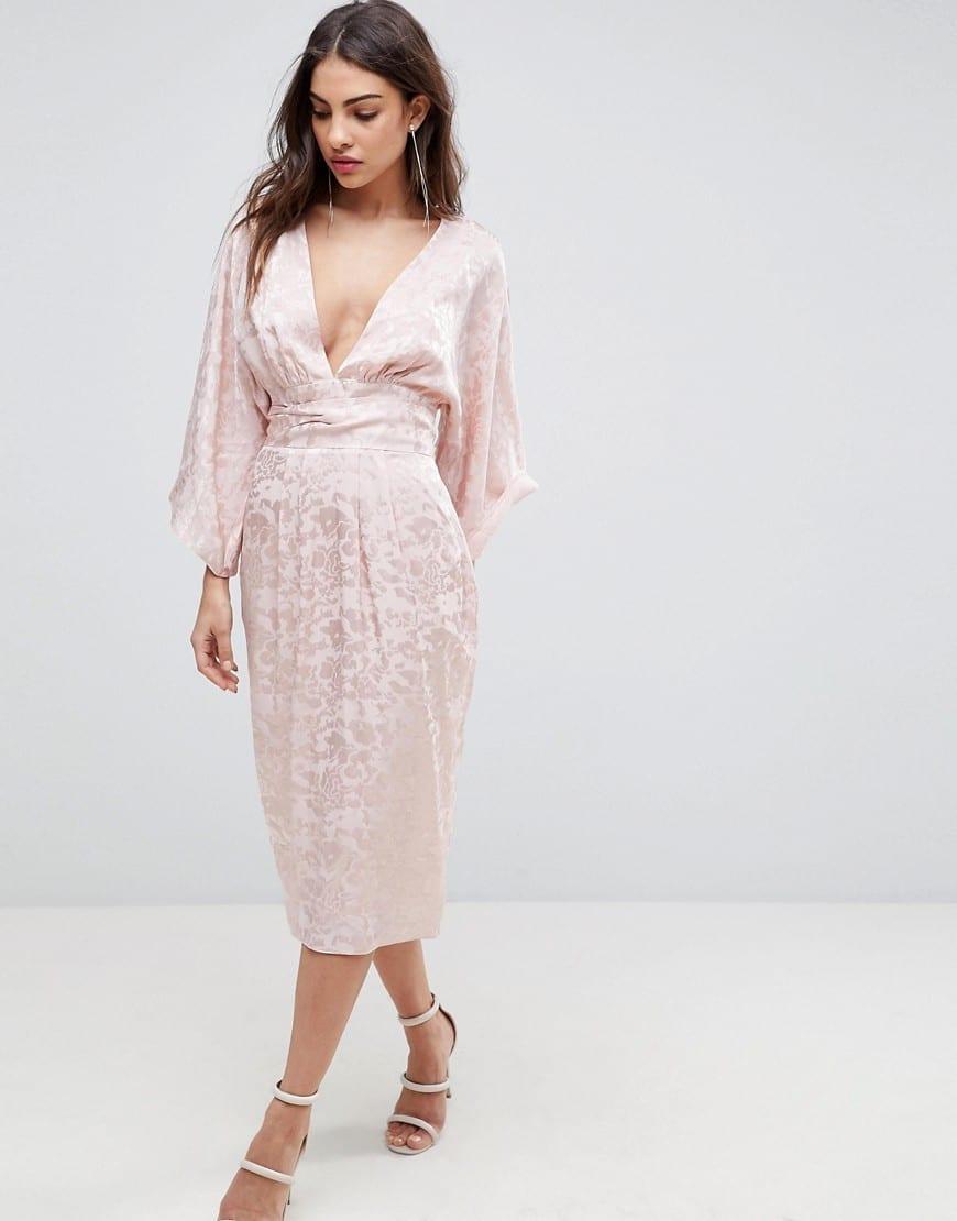 2d81dd1499 Asos soft jacquard fringe belt kimono pink dress we select dresses jpg  870x1110 Asos pink dress