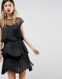 ASOS ULTIMATE Fringe Layered Mini Dress