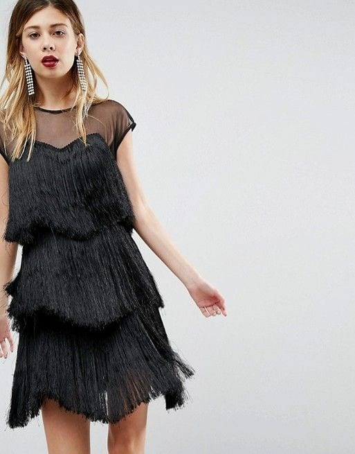 ASOS ULTIMATE Fringe Layered Mini Dress