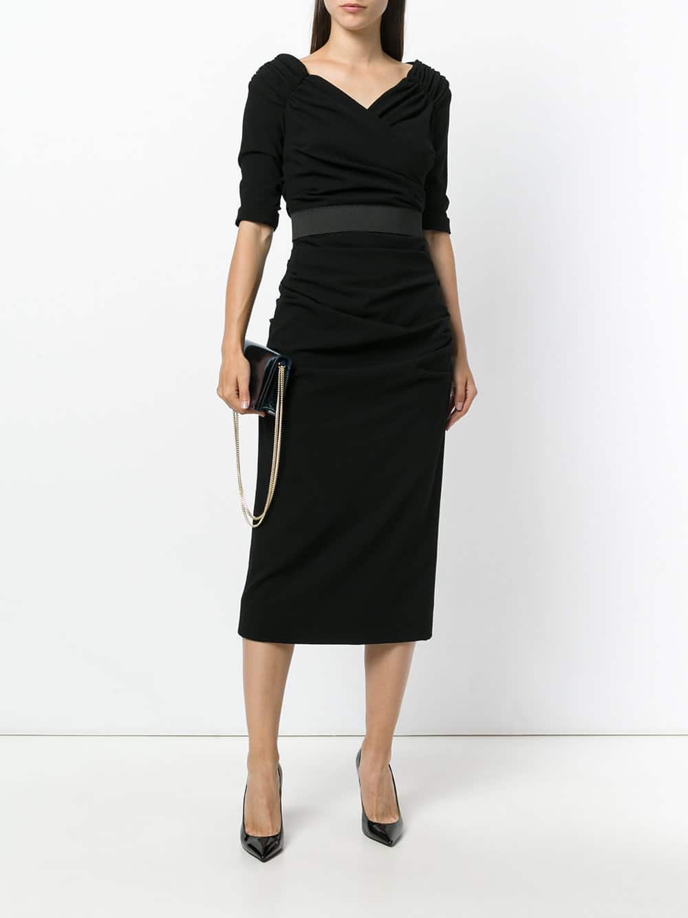 7b99102ebf2 DOLCE   GABBANA Ruched Black Dress - We Select Dresses