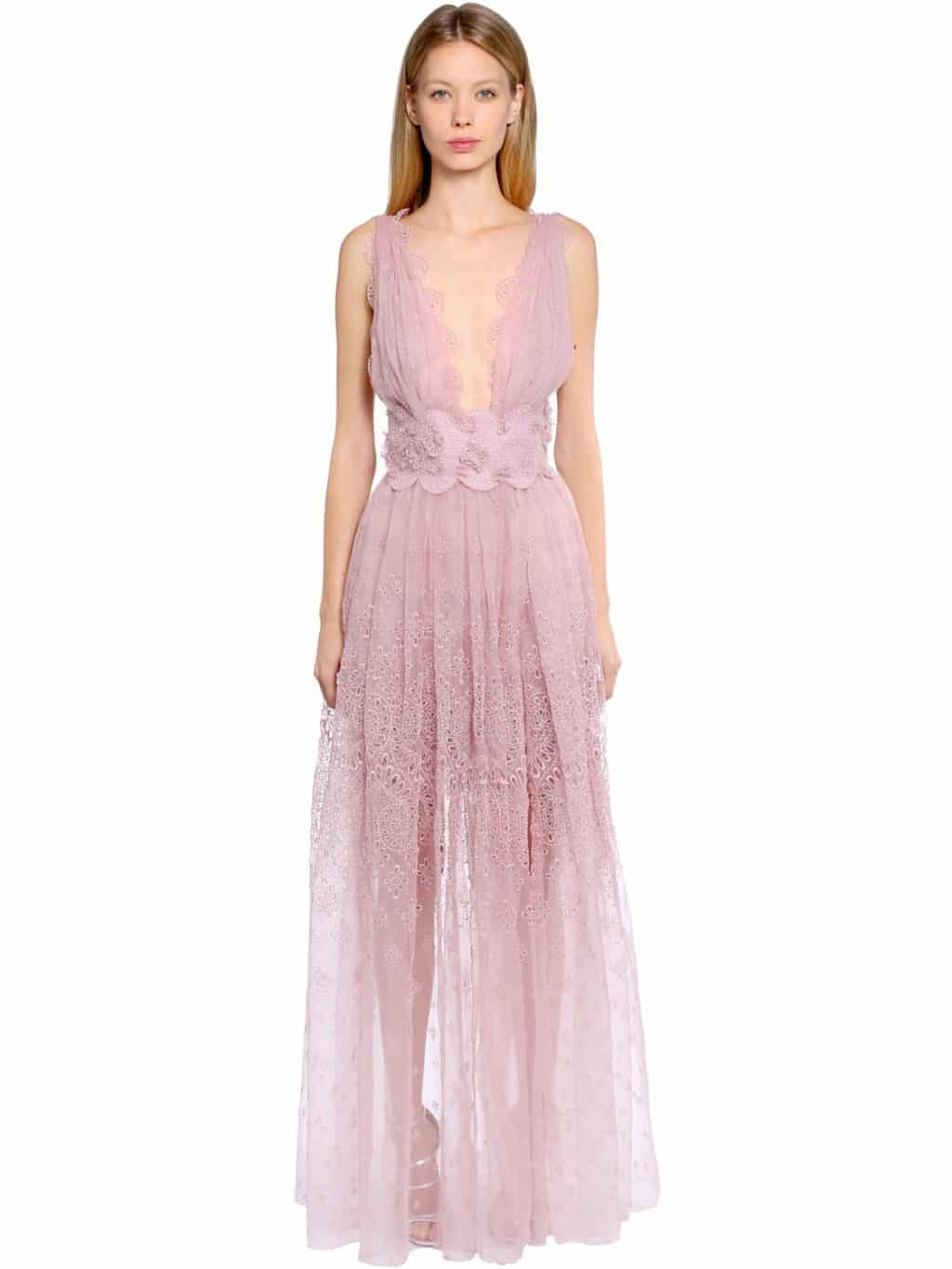 Ermanno scervino eyelet lace organza long pink dress we select jpg  1024x1365 Pink long dress 19ee98dfa50e