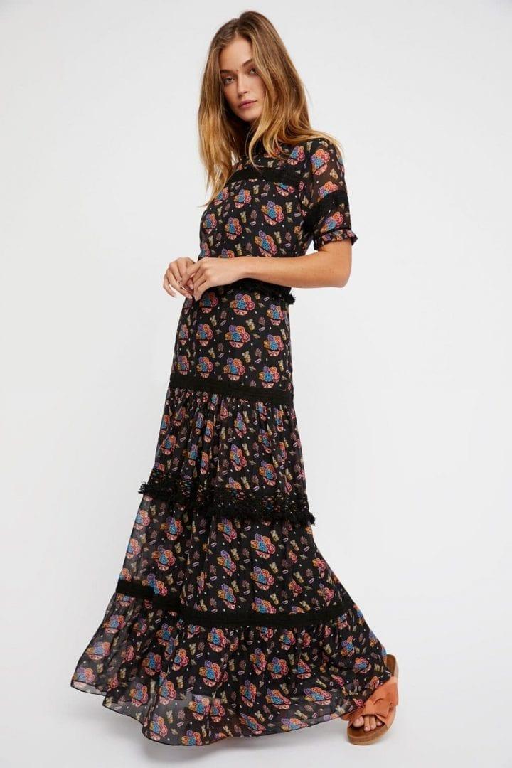 FREEPEOPLE Catalina Maxi Black Dress
