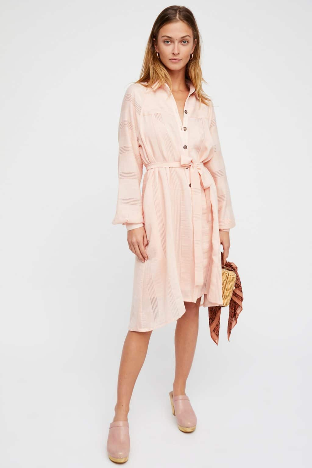 FREEPEOPLE Great Escape Shirt Pink Dress