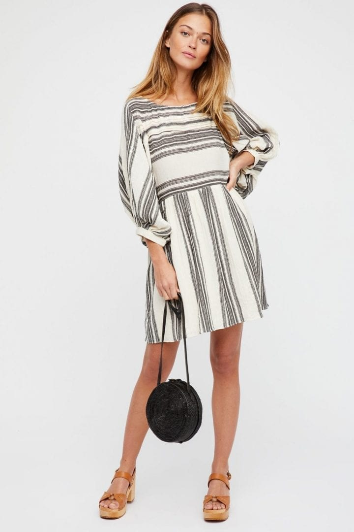 FREEPEOPLE Lilly Cream Combo Dress