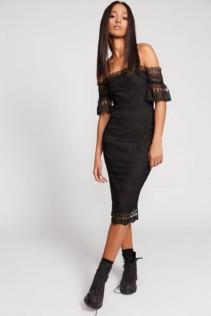 FREEPEOPLE Mariah Midi Black Dress