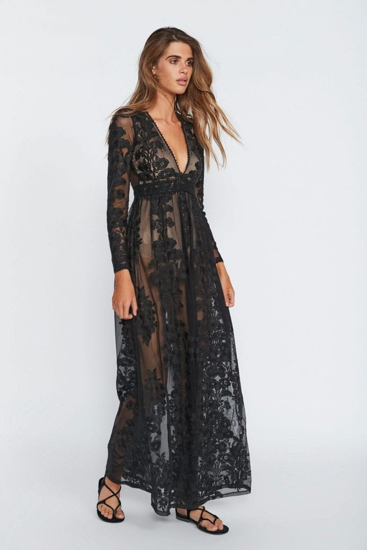 FREEPEOPLE Temecula Maxi Black Dress
