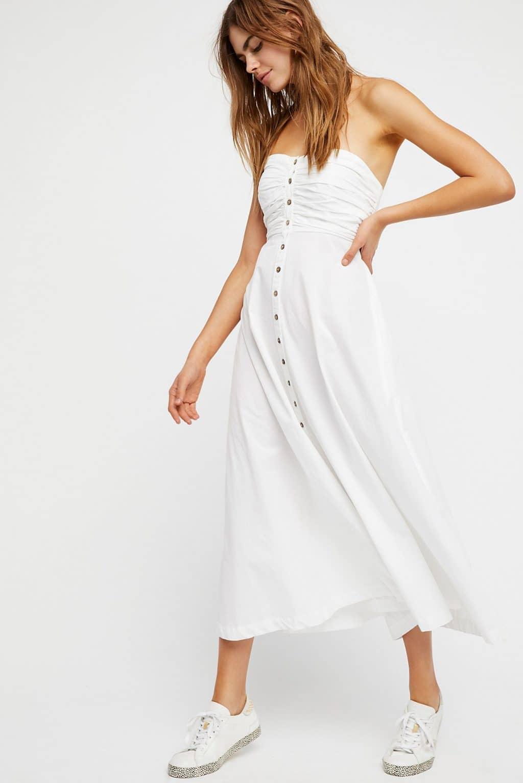 White tube dress with straps