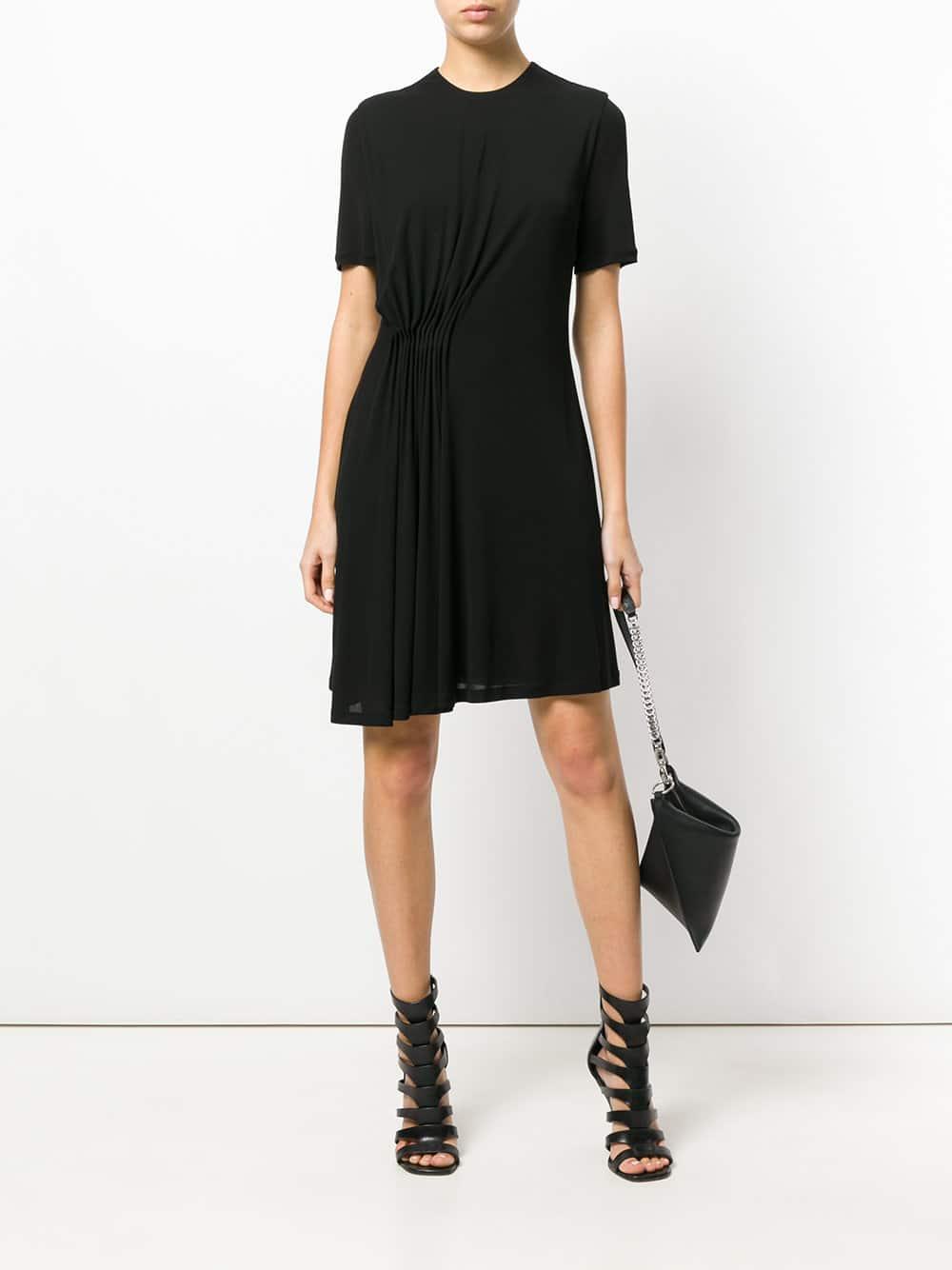 GIVENCHY Gathered Waist Black Dress