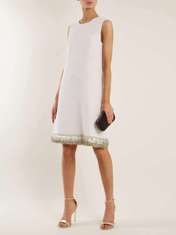 21e09e928 GOAT Fandango Sleeveless Embellished Hem Wool Cream Dress - We ...