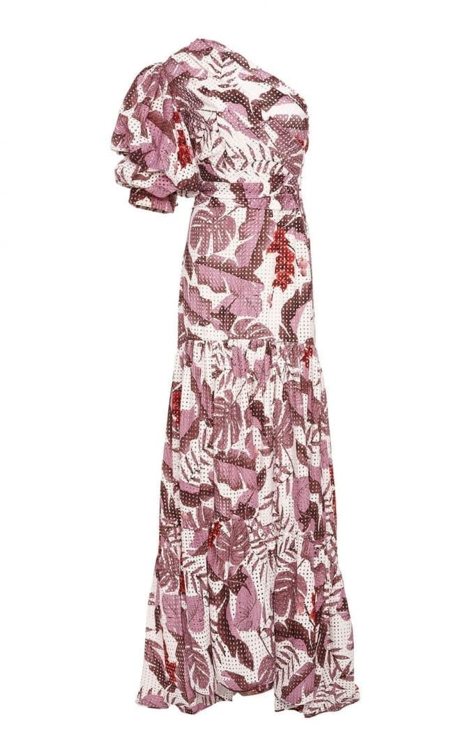 JOHANNA ORTIZ M'O Exclusive Gardens Of Marrakesh Cotton Eyelet Mauve / White amazonia print Dress