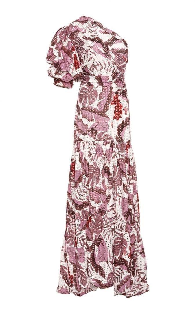 JOHANNA ORTIZ M'O Exclusive Gardens Of Marrakesh Cotton Eyelet Mauve / White amazonia print Dress