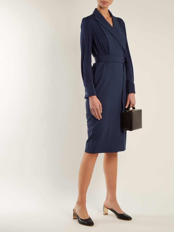 MAX MARA Harold Indigo Blue Dress