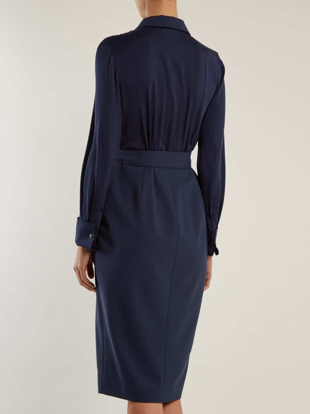 max mara harold indigo blue dress we select dresses