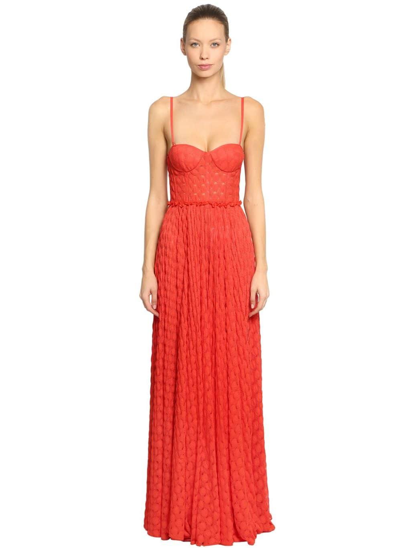 MISSONI Lace Bustier Orange Dress - We Select Dresses