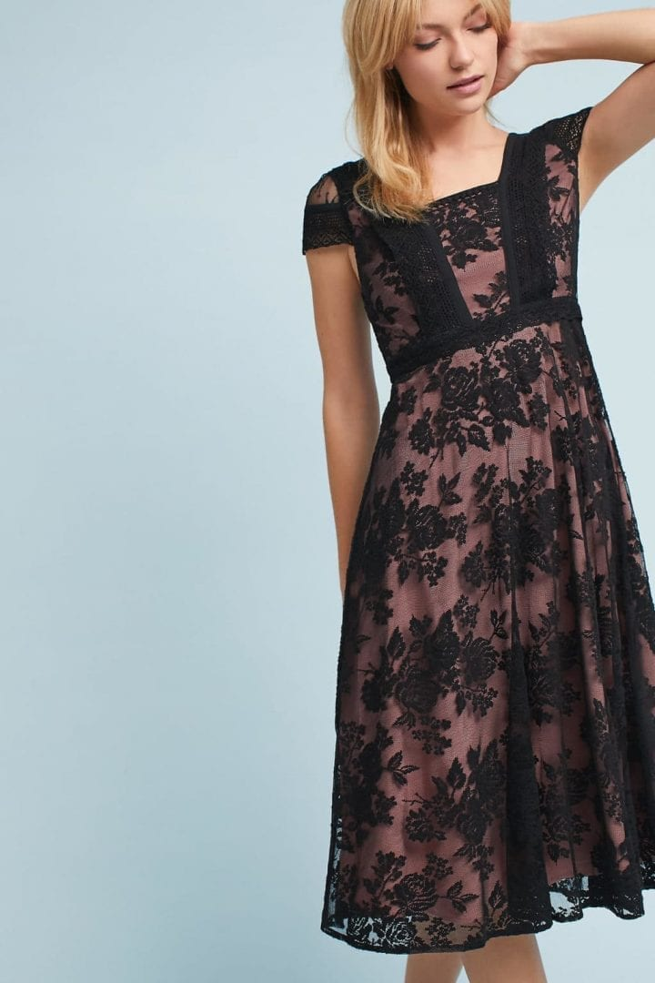 Moulinette Soeurs Malia Lace Midi Black Dress We Select Dresses