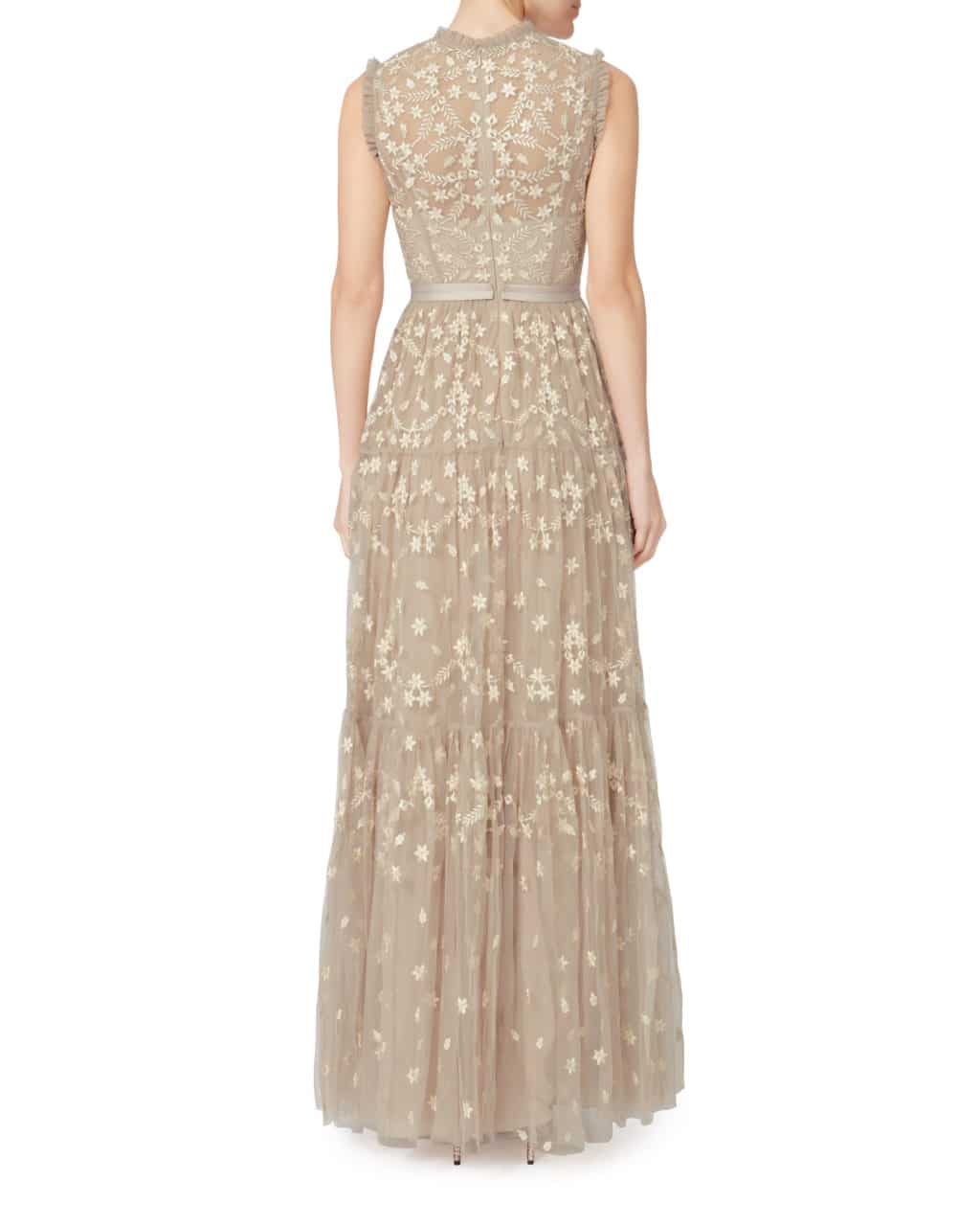 NEEDLE & THREAD Clover-Embellished Beige / Cream Gown - We Select ...