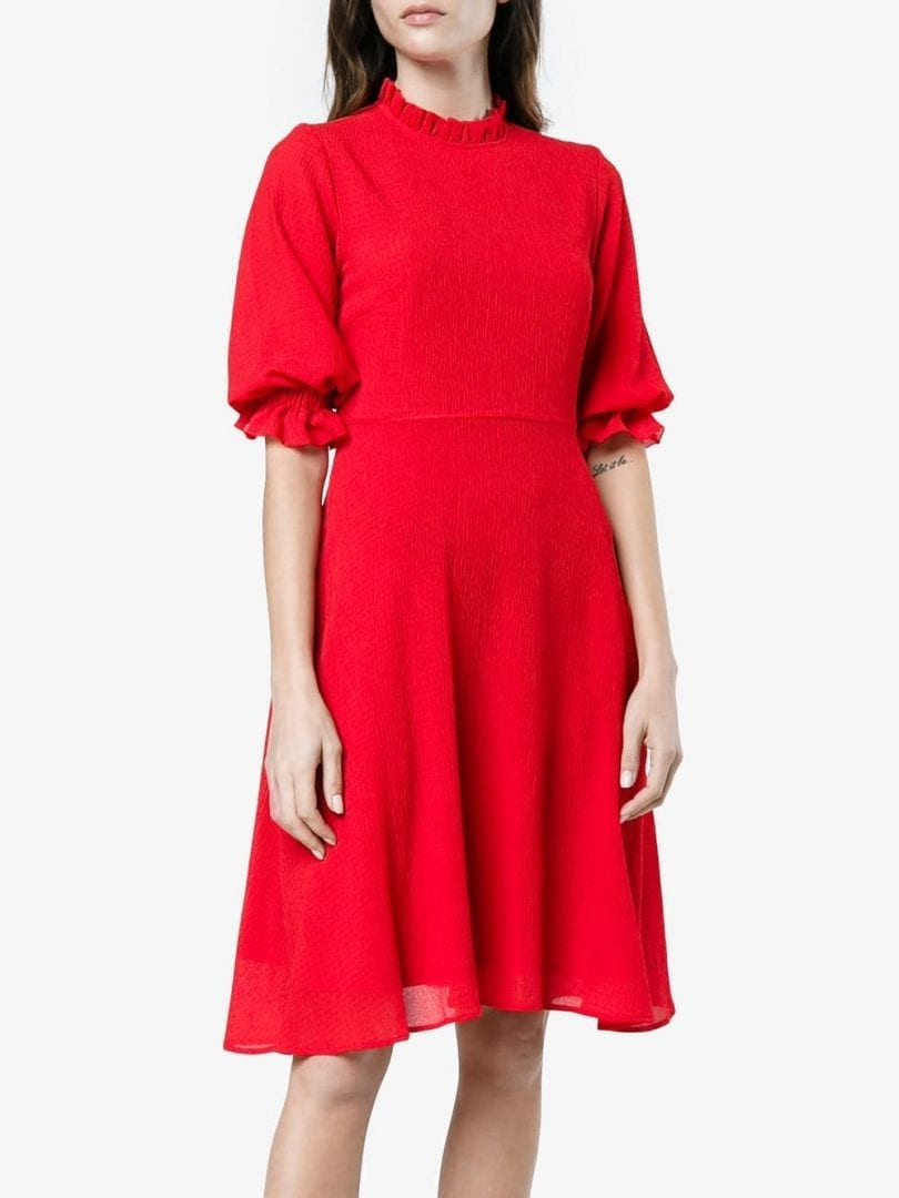 eb1a468738 Red Dress With Sleeves Knee Length - Data Dynamic AG