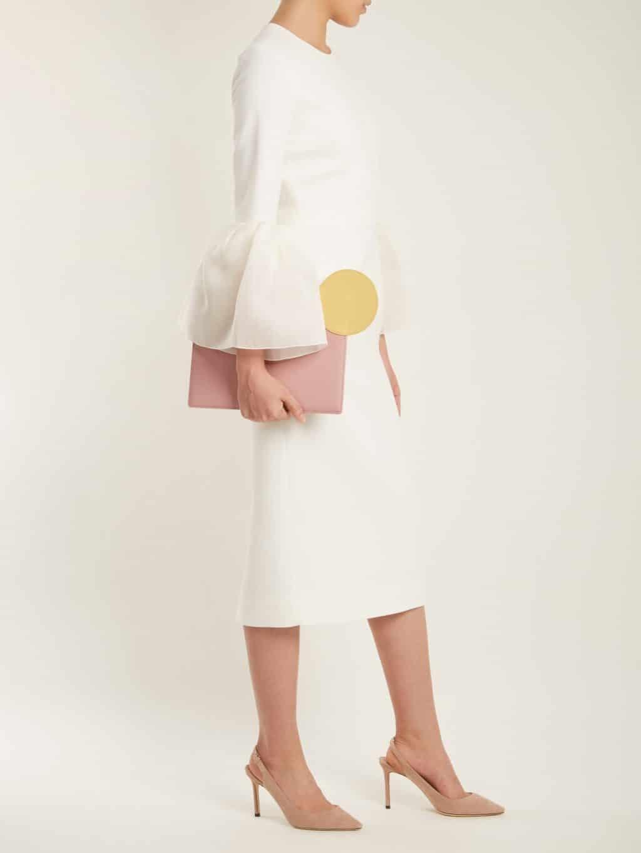 ROKSANDA Margot Bell-cuff Cady Ivory Dress